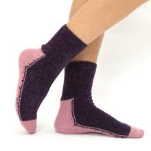 Zweifarbige warme Socken