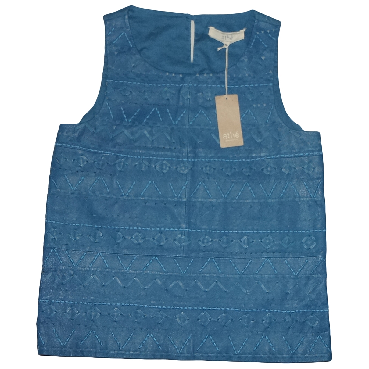 Vanessa Bruno Athe \N Blue Leather  top for Women 40 FR