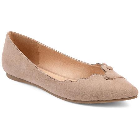 Journee Collection Womens Mila Ballet Flats, 8 Medium, Beige