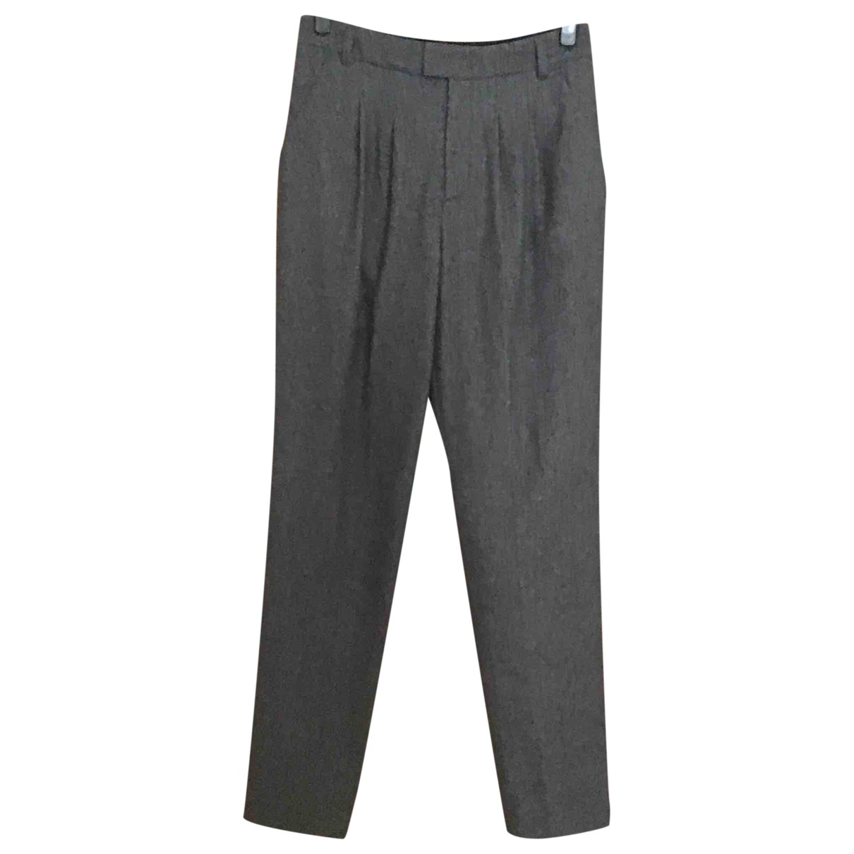 Agnès B. \N Grey Wool Trousers for Women 38 FR
