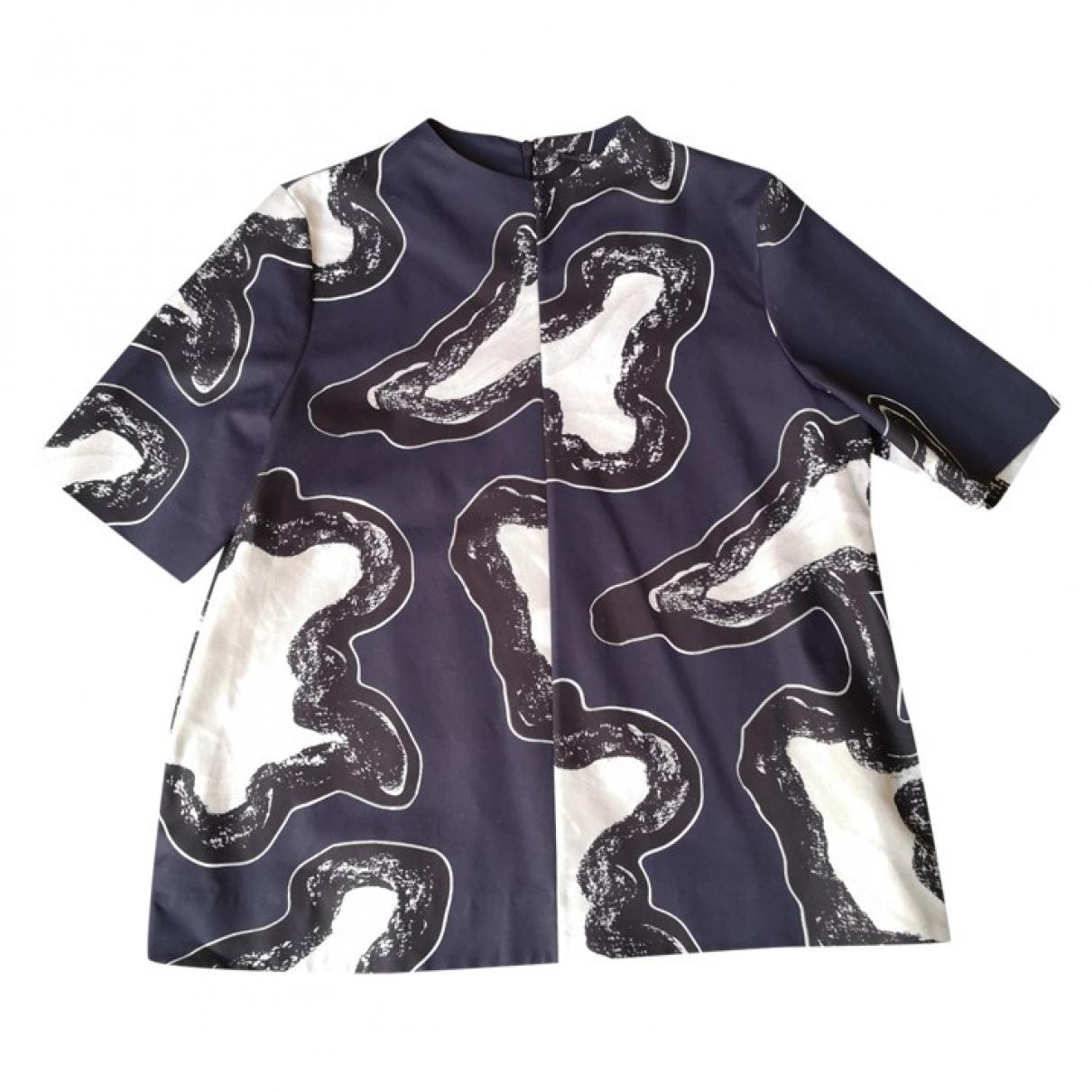 Cos - Top   pour femme en coton - bleu