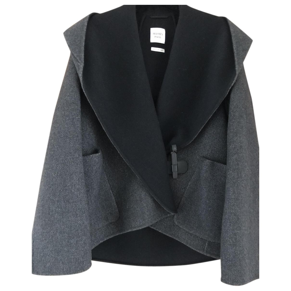 Hermes - Blouson   pour femme en cachemire - gris