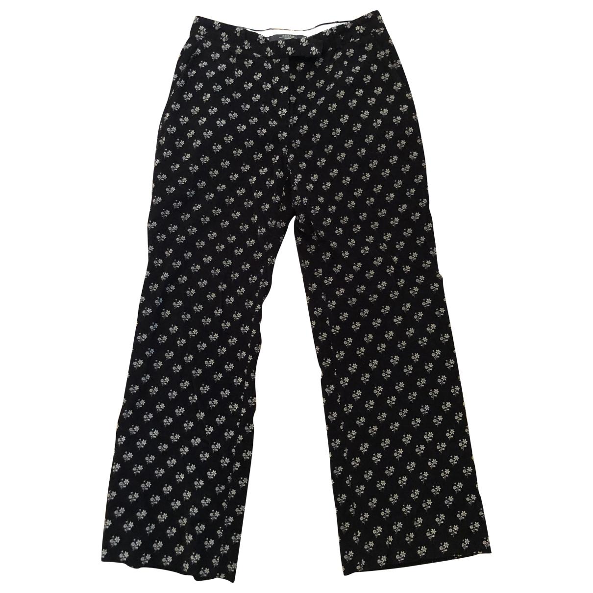 Pantalon en Algodon Negro Max Mara Weekend