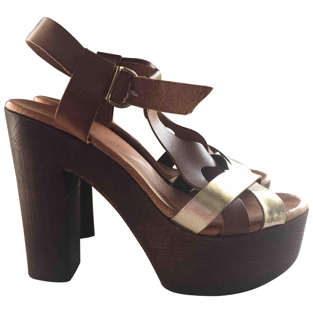 Non Signé / Unsigned \N Multicolour Leather Heels for Women 37 IT