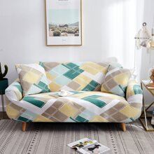 Diamond Lattice Pattern Sofa Cover Without Cushion