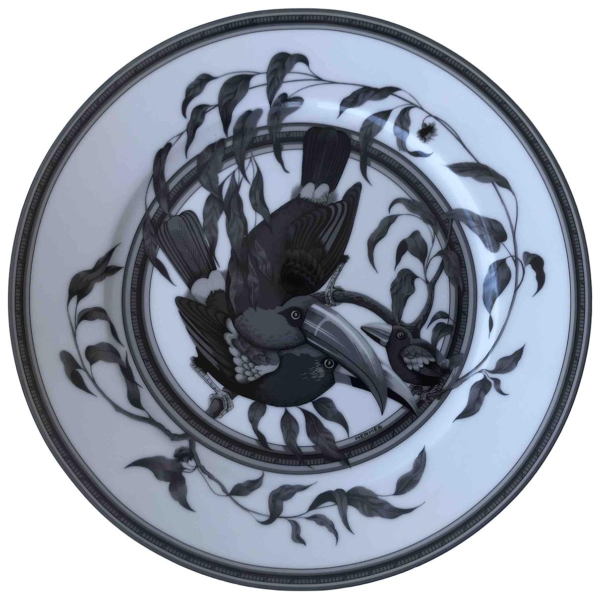 Hermes Toucans Tischkultur in  Schwarz Keramik