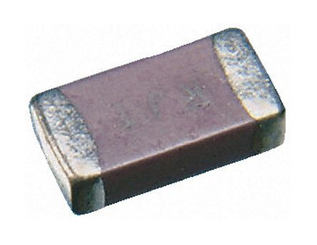 Vishay , 1206 (3216M) 2.2pF Multilayer Ceramic Capacitor MLCC 500V dc ±0.25pF , SMD VJ1206A2R2CXEAC (25)
