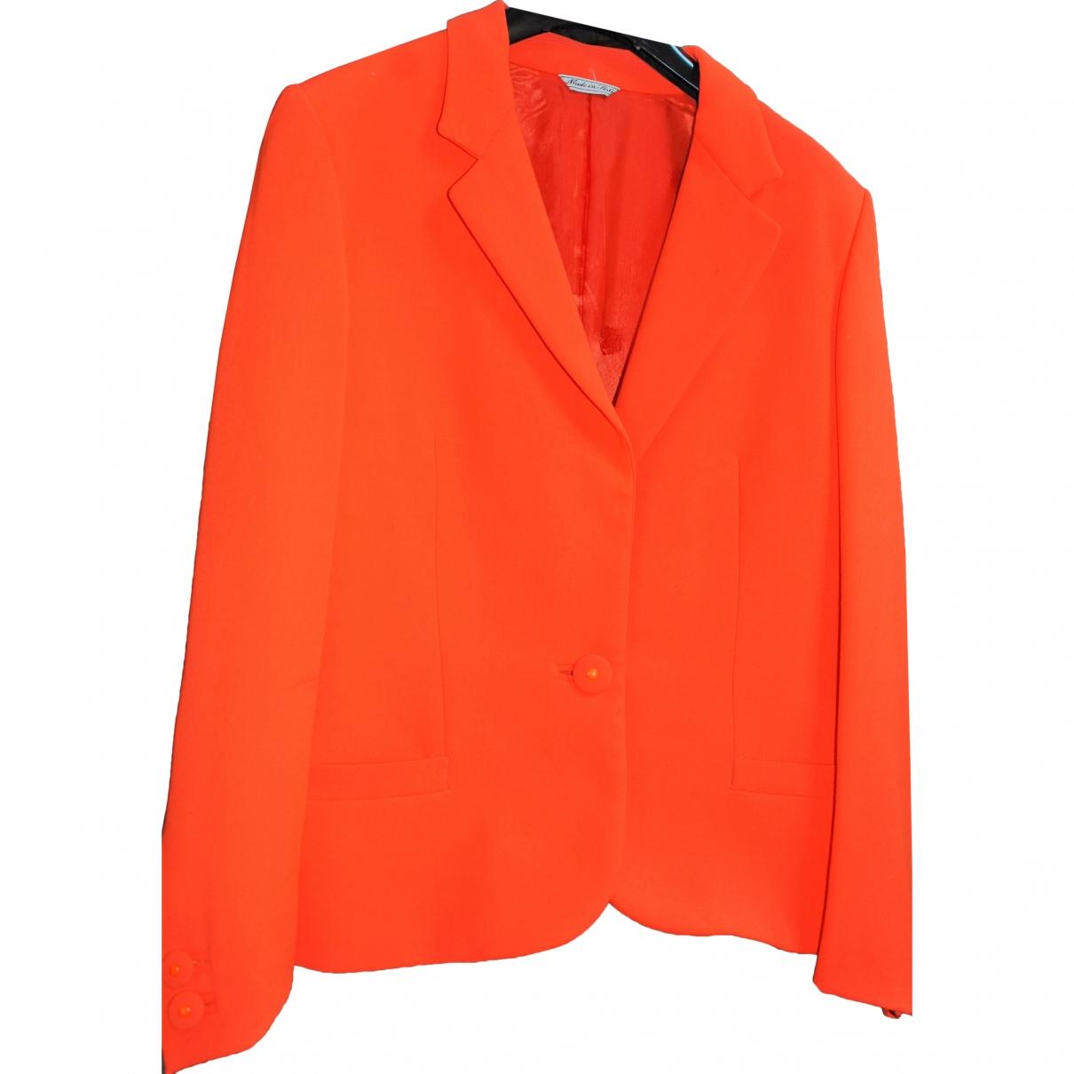 Gianni Versace \N Orange Silk jacket for Women 42 IT