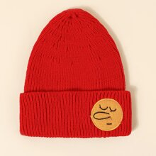 Toddler Kids Patched Cuffed Beanie