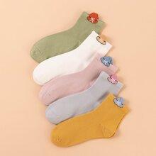 5 Paare Socken mit Hut Muster