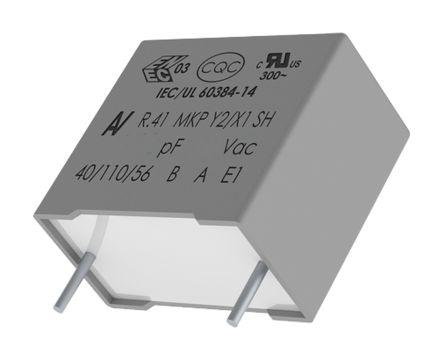 KEMET 47nF Polypropylene Capacitor PP 1 kV dc, 300 V ac ±20% Tolerance Through Hole R41 Series (10)