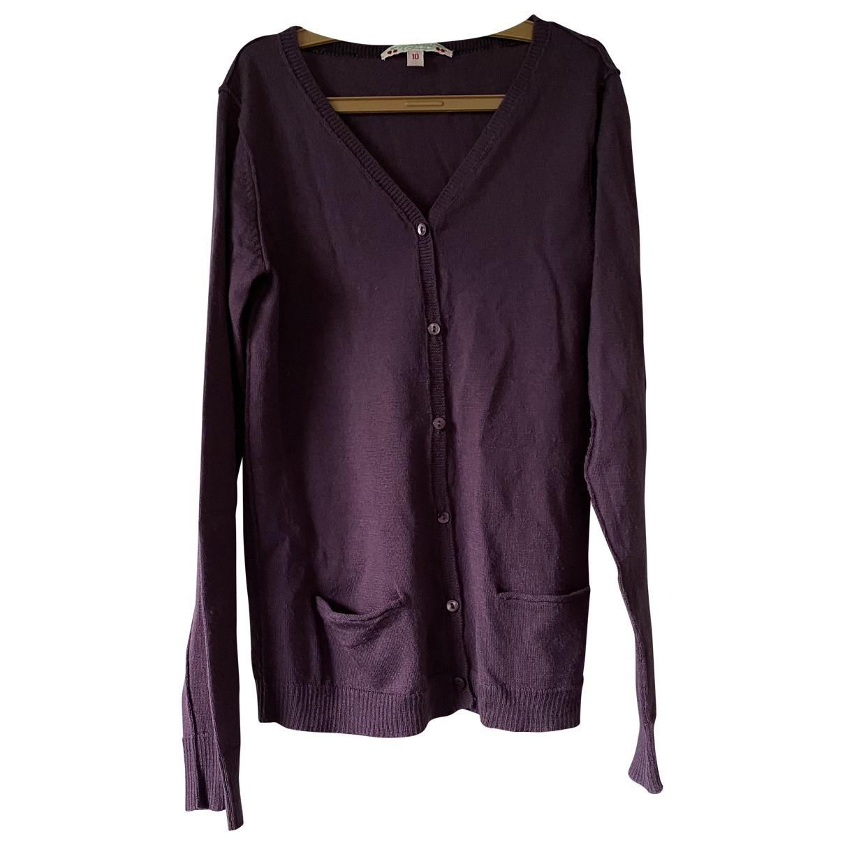 Bonpoint - Pull   pour enfant en laine - violet