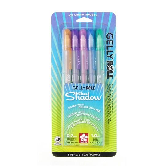 Gelly Roll® Silver Shadow Gel Pen 5 Color Set By Sakura | Michaels®