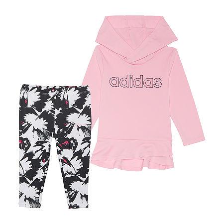 adidas Little Girls 2-pc. Legging Set, 6x , Pink