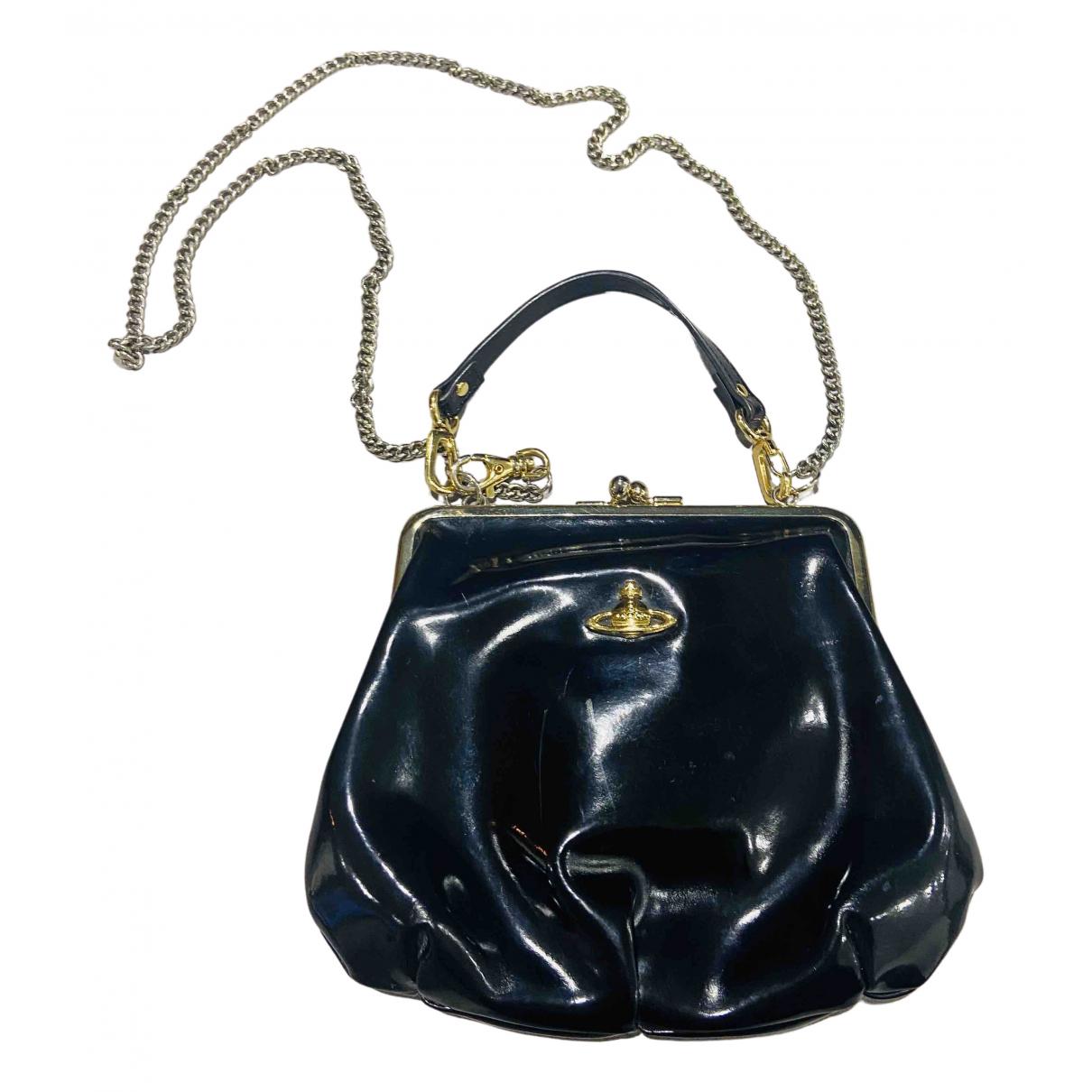 Vivienne Westwood - Sac a main   pour femme en cuir verni - noir