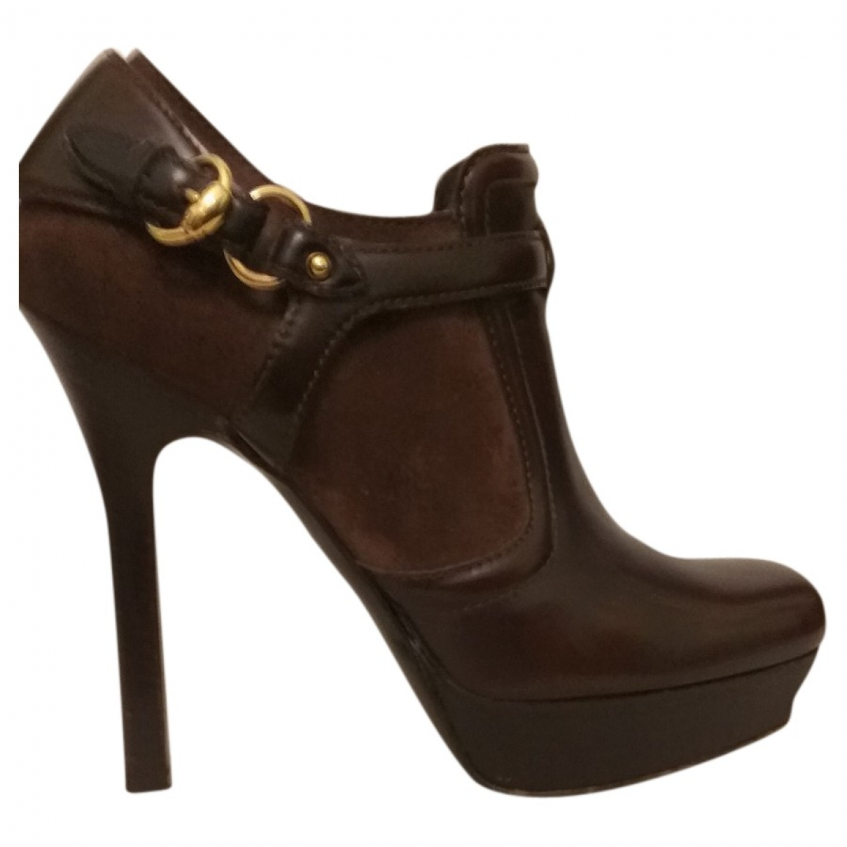 Gucci \N Brown Leather Ankle boots for Women 38 EU