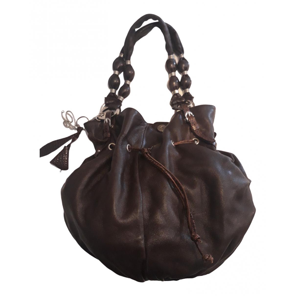 Blumarine \N Brown Leather handbag for Women \N