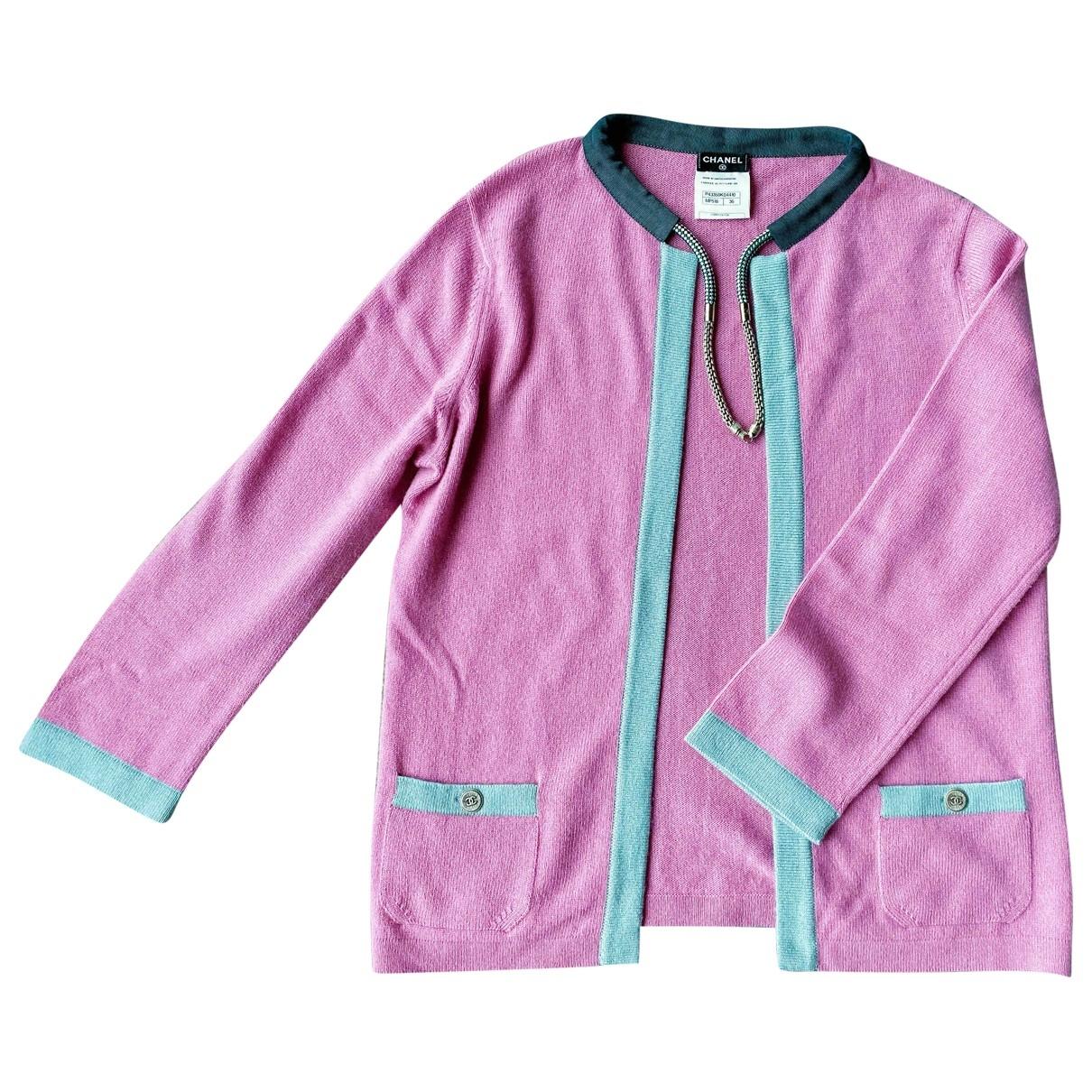 Chanel - Pull   pour femme en cachemire - rose