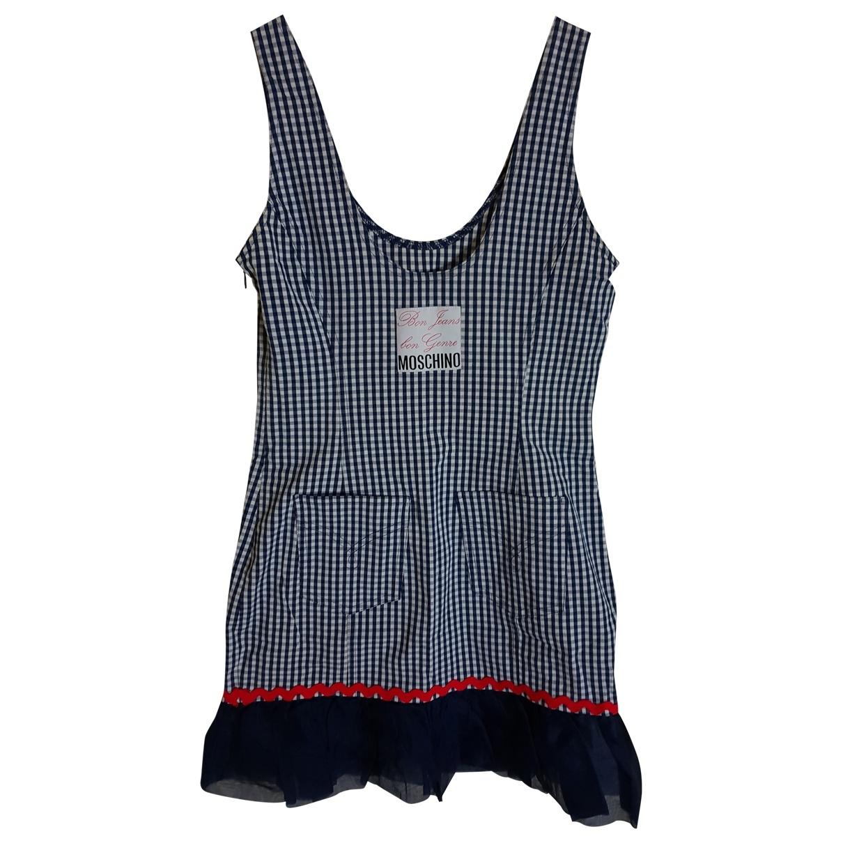 Moschino Love \N Kleid in  Blau Baumwolle