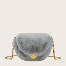 Girls Fluffy Flap Crossbody Bag