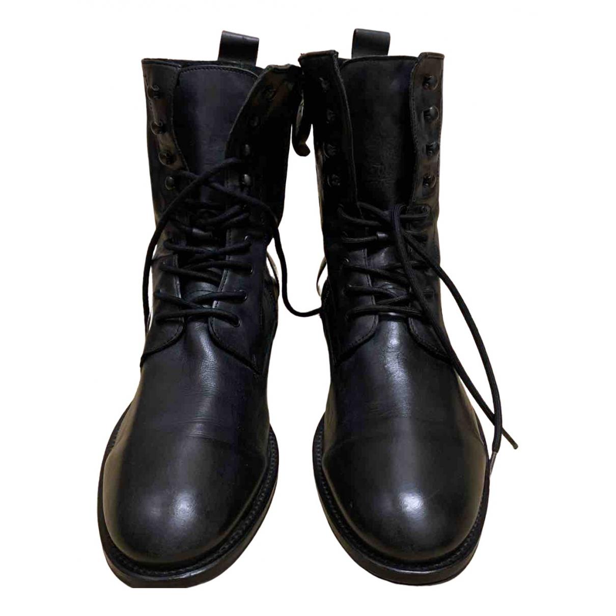 Hudson \N Stiefel in  Schwarz Leder