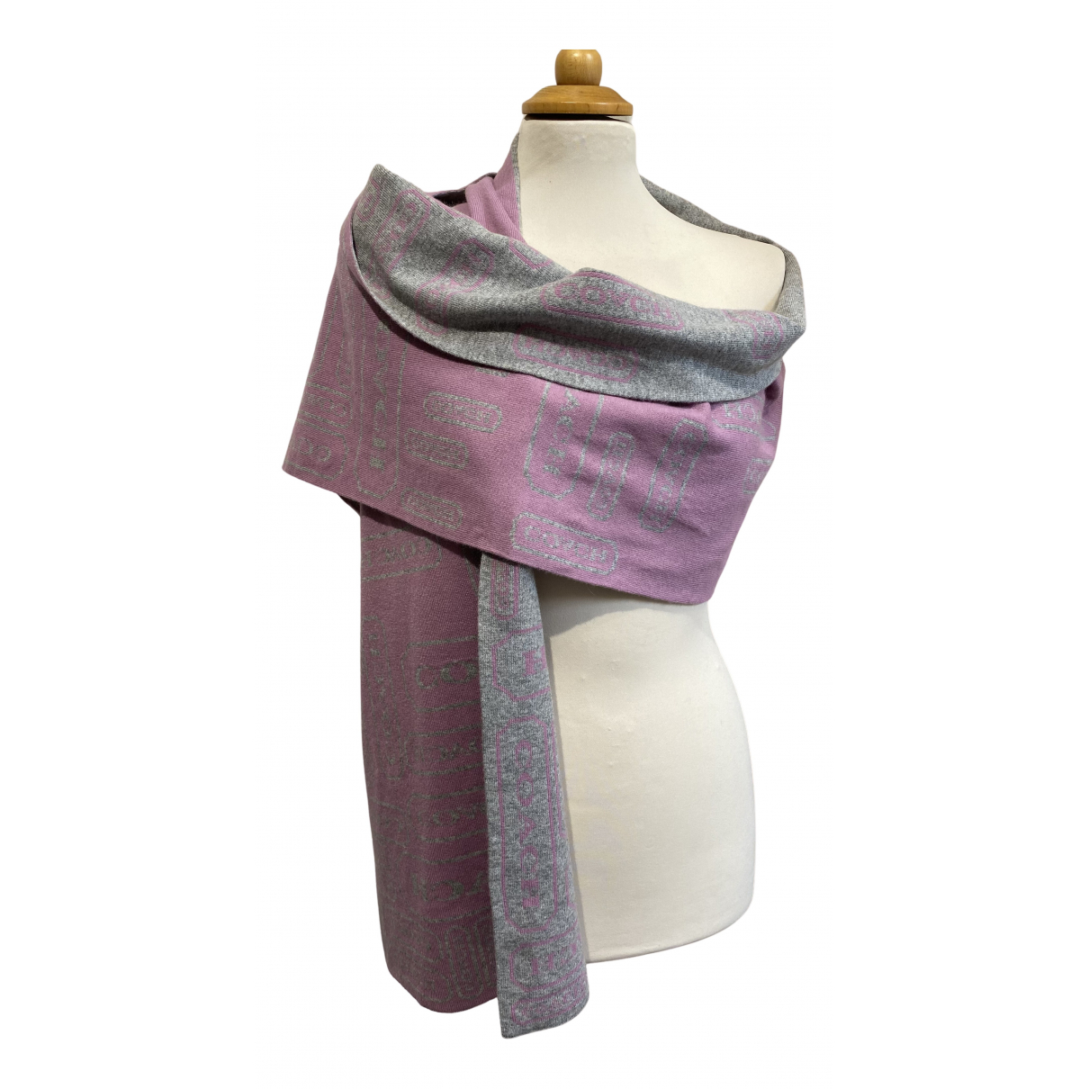 Coach N Multicolour Wool scarf for Women N