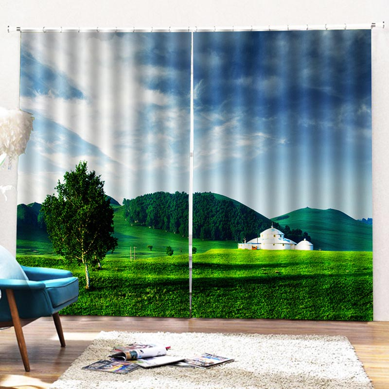 Beddinginn Sky Decoration Pastoral Curtains/Window Screens