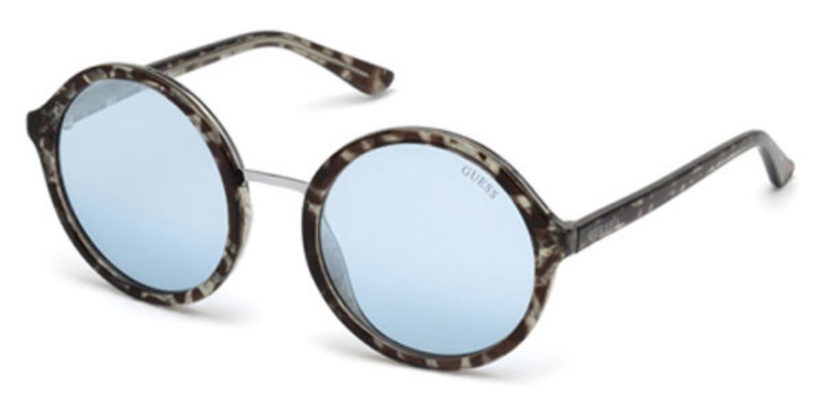 Guess GU 7558 89X Women's Sunglasses Blue Size 54