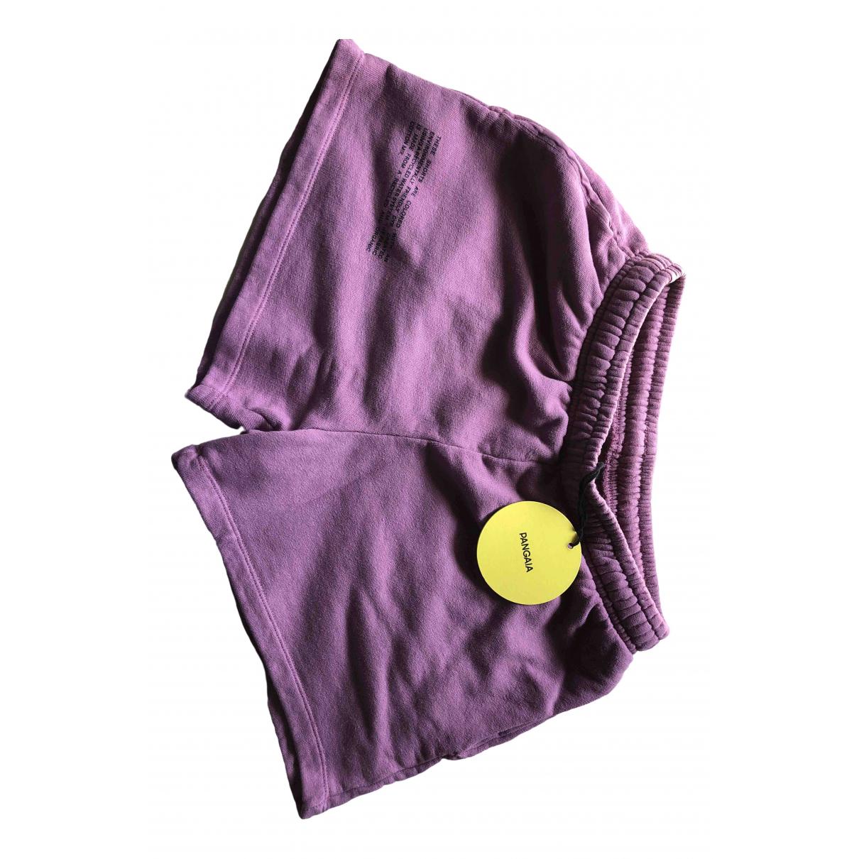 The Pangaia \N Shorts in  Lila Baumwolle