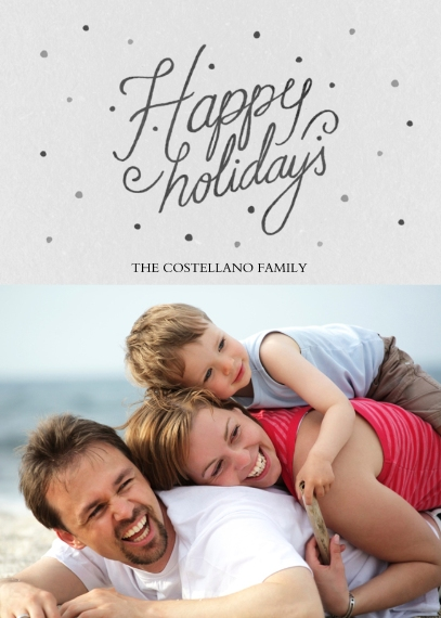 Holiday Photo Cards 5x7 Cards, Standard Cardstock 85lb, Card & Stationery -Happy Holidays Chalk