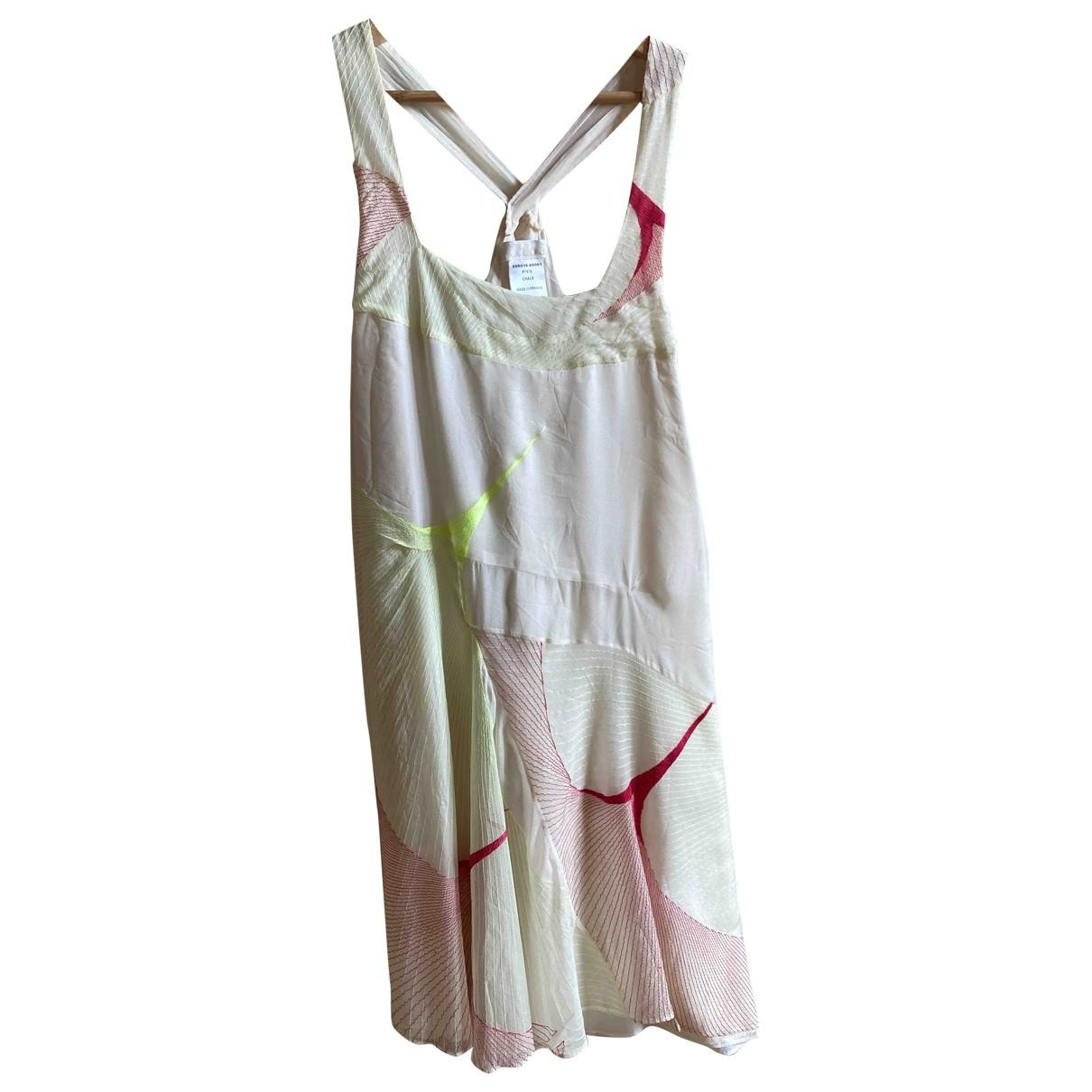 Chloe - Robe   pour femme en soie - multicolore