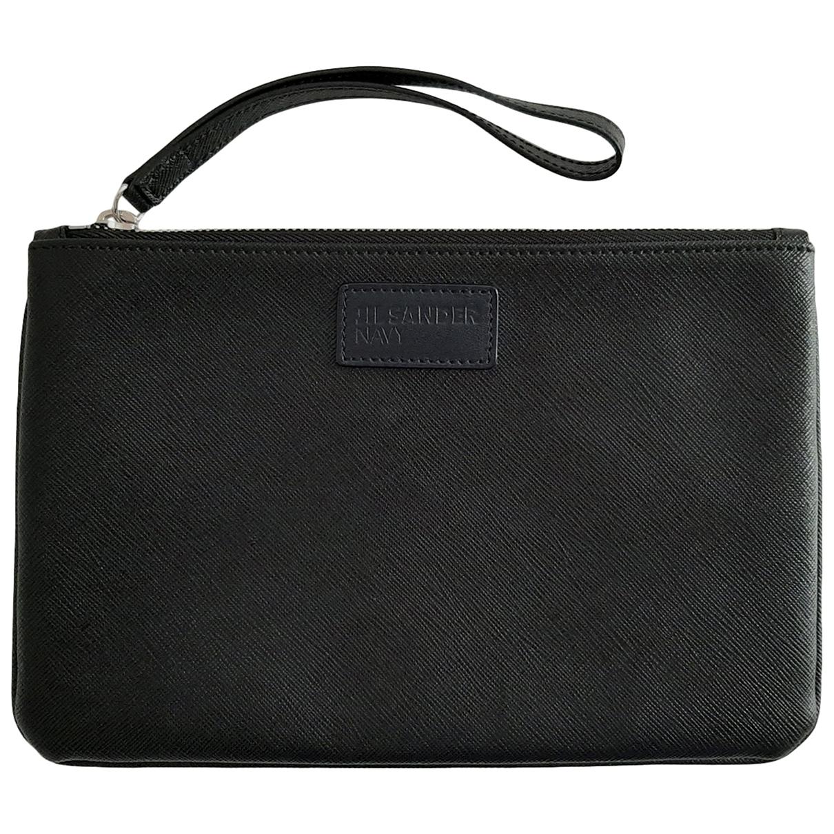 Jil Sander \N Black Leather Purses, wallet & cases for Women \N