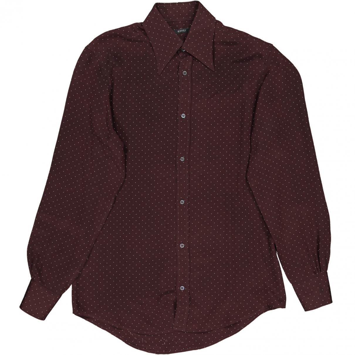Gucci \N Brown Silk Shirts for Men 38 EU (tour de cou / collar)