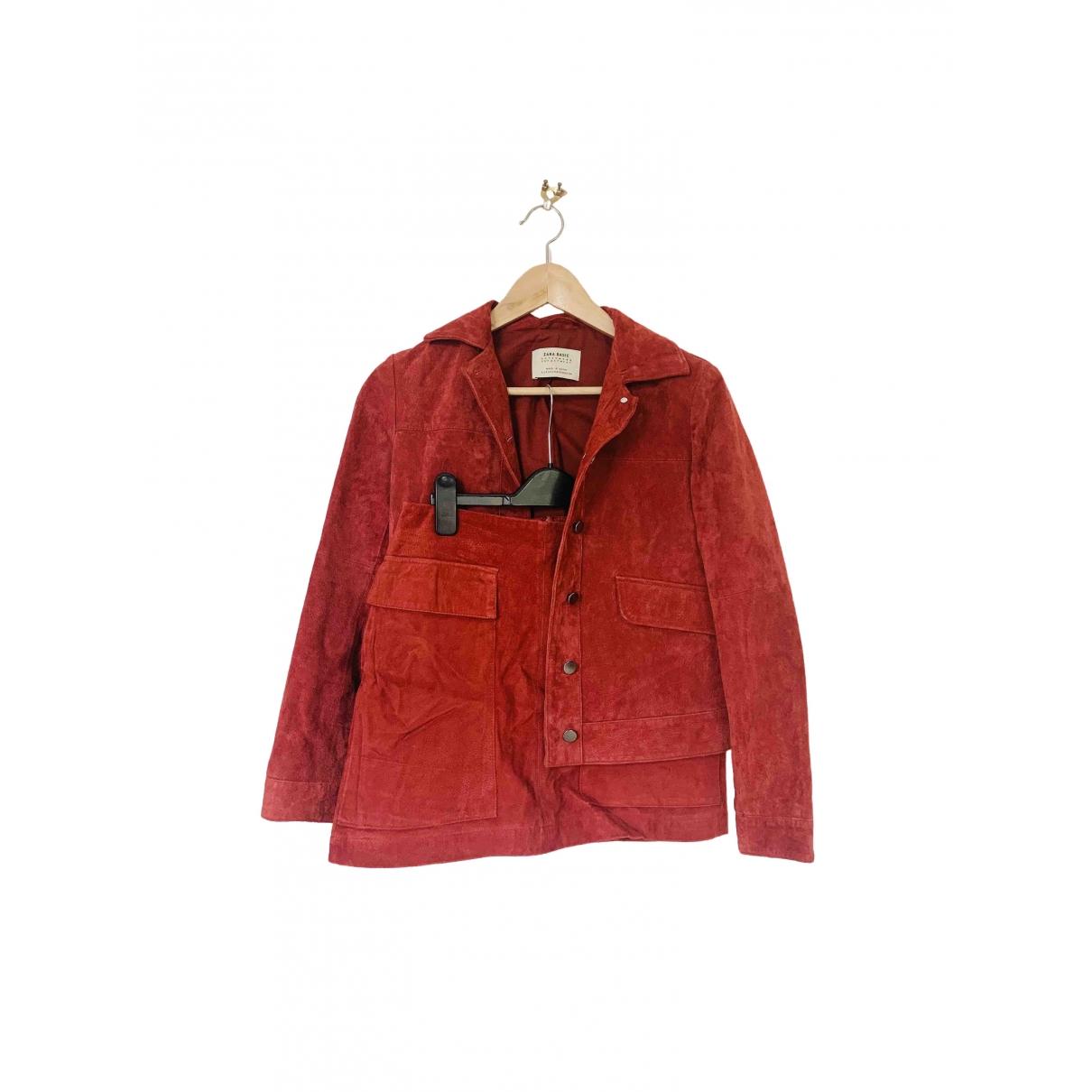 Zara \N Red Suede jacket for Women XS International