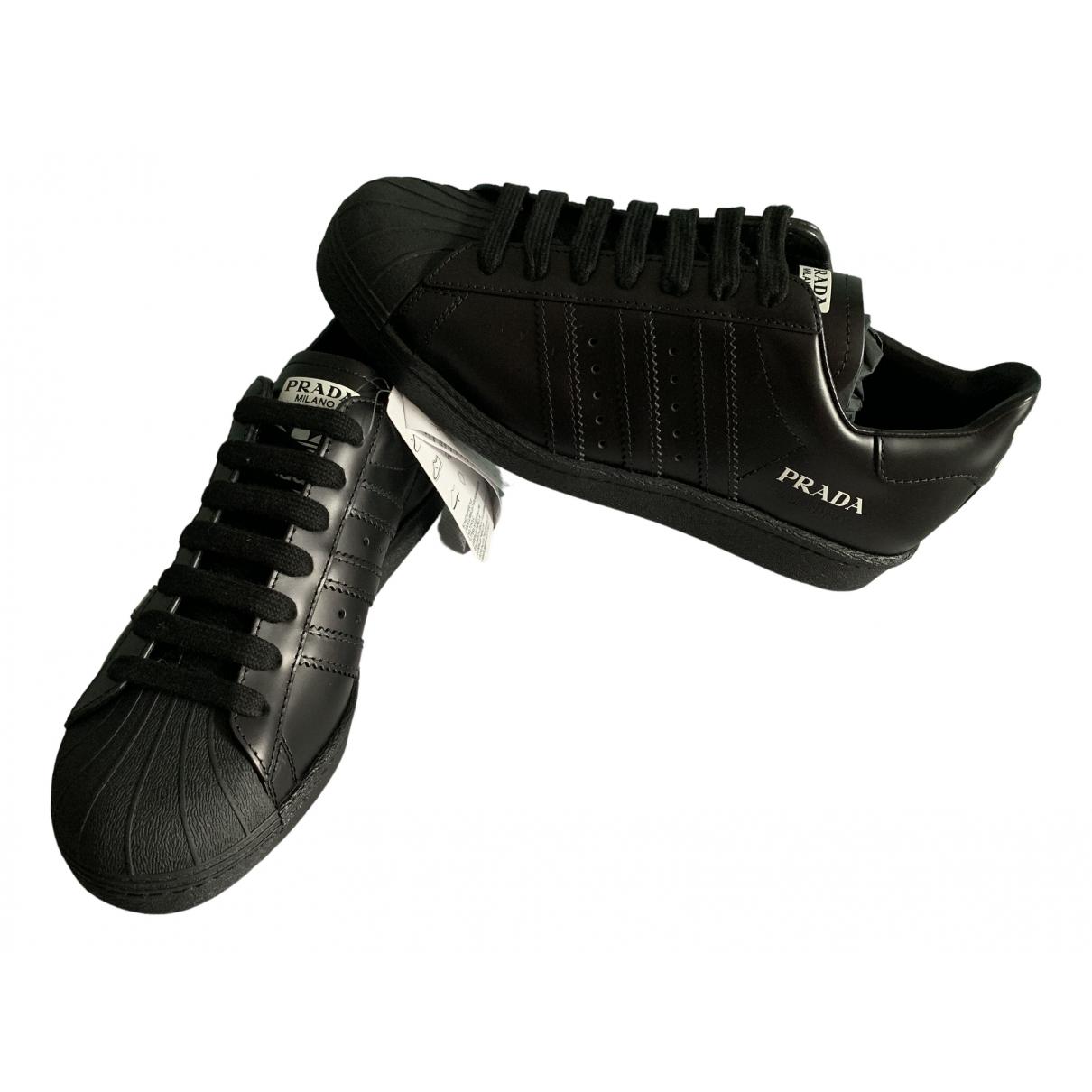 Prada X Adidas \N Sneakers in  Schwarz Leder