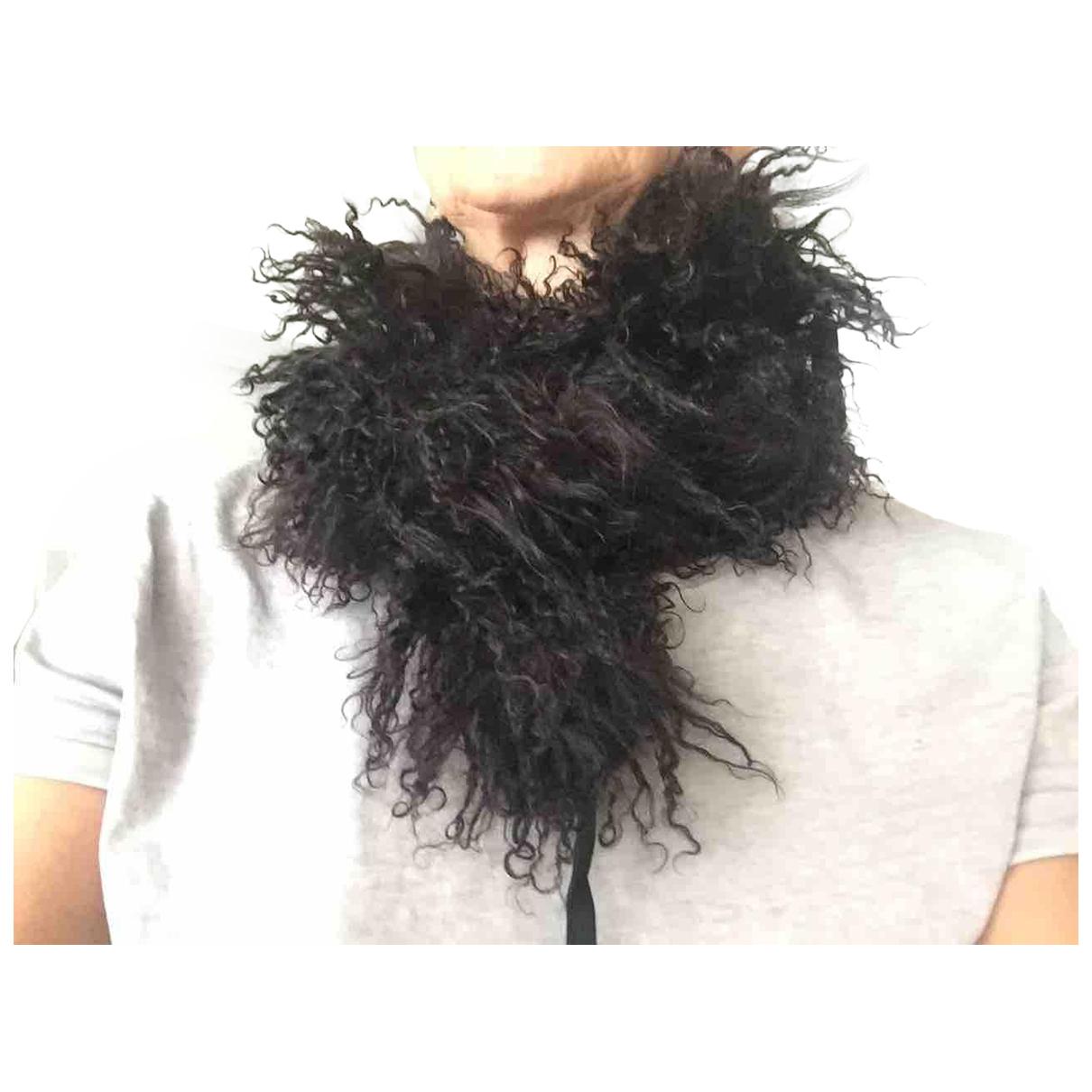 - Foulard   pour femme en mouton - noir
