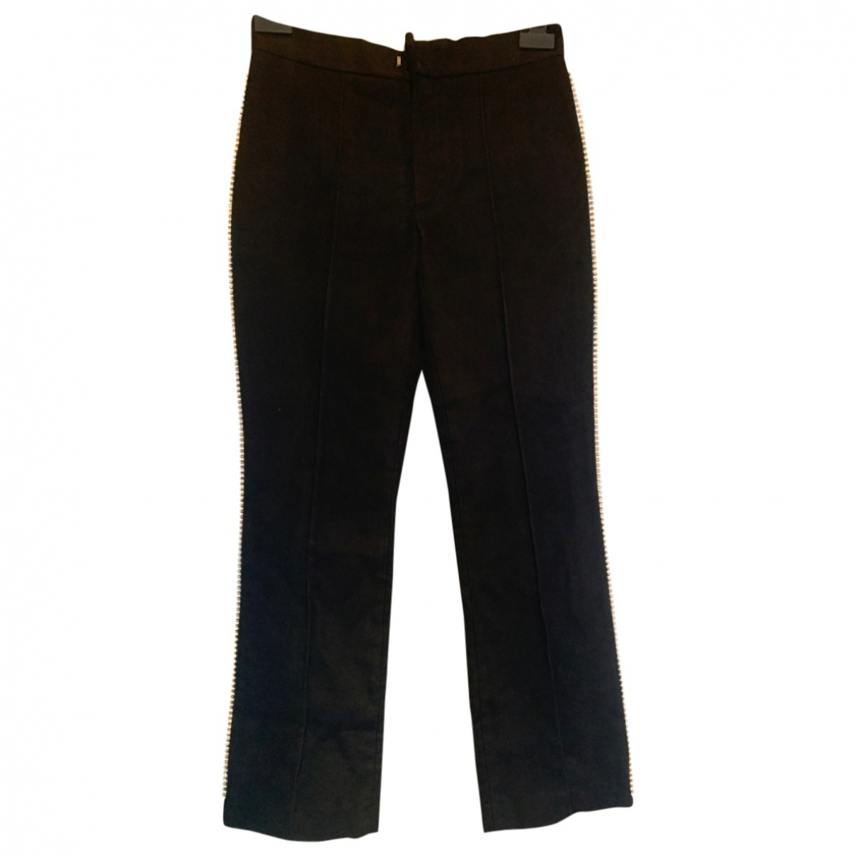 Isabel Marant \N Black Velvet Trousers for Women 34 FR