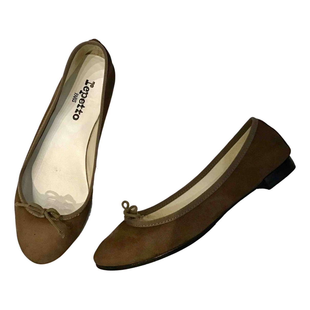 Repetto N Camel Suede Ballet flats for Women 38 EU