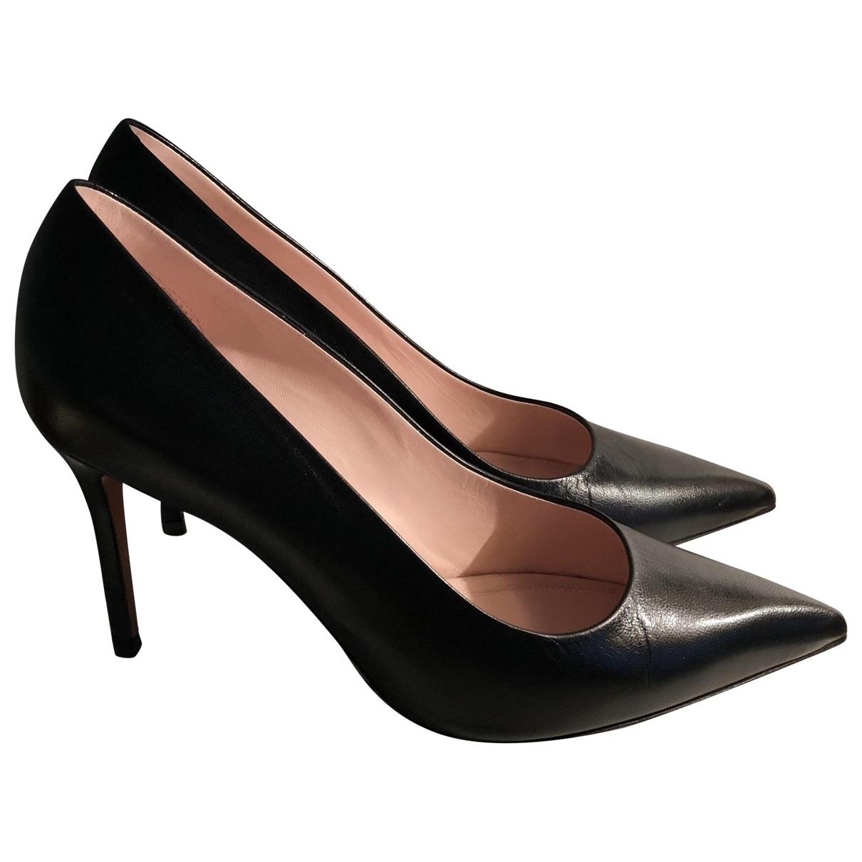 Celine \N Black Leather Heels for Women 36.5 EU