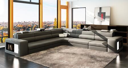VGEV5022C Divani Casa 5022C Modern Grey and White Bonded Leather Sectional