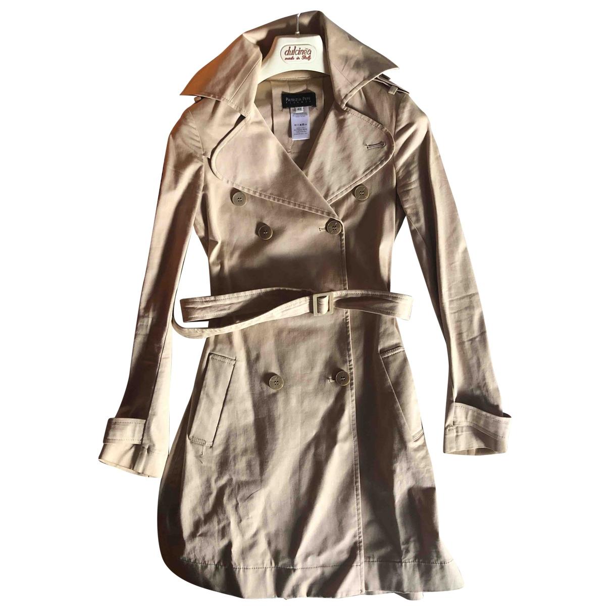 Patrizia Pepe \N Beige Cotton Trench coat for Women 40 IT