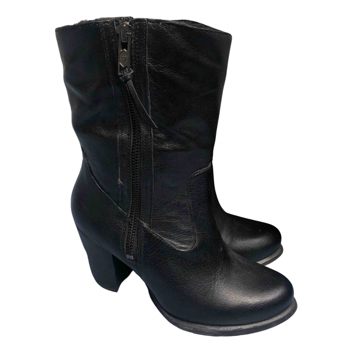 Ugg N Black Patent leather Boots for Women 36 EU