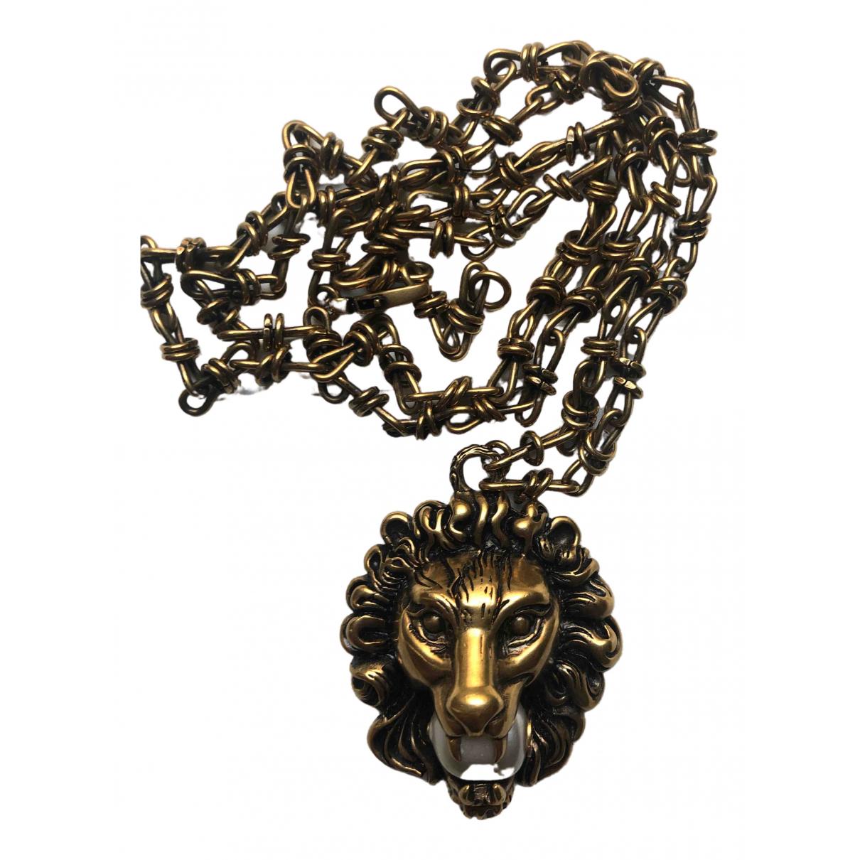 Gucci - Collier   pour femme en metal - dore