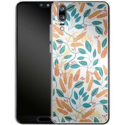 Huawei P20 Silikon Handyhuelle - Wild Leaves von Iisa Monttinen