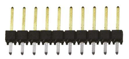 Samtec , TSW, 10 Way, 1 Row, Straight Pin Header