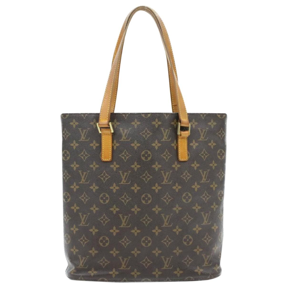 Louis Vuitton Luco Handtasche in  Braun Leinen