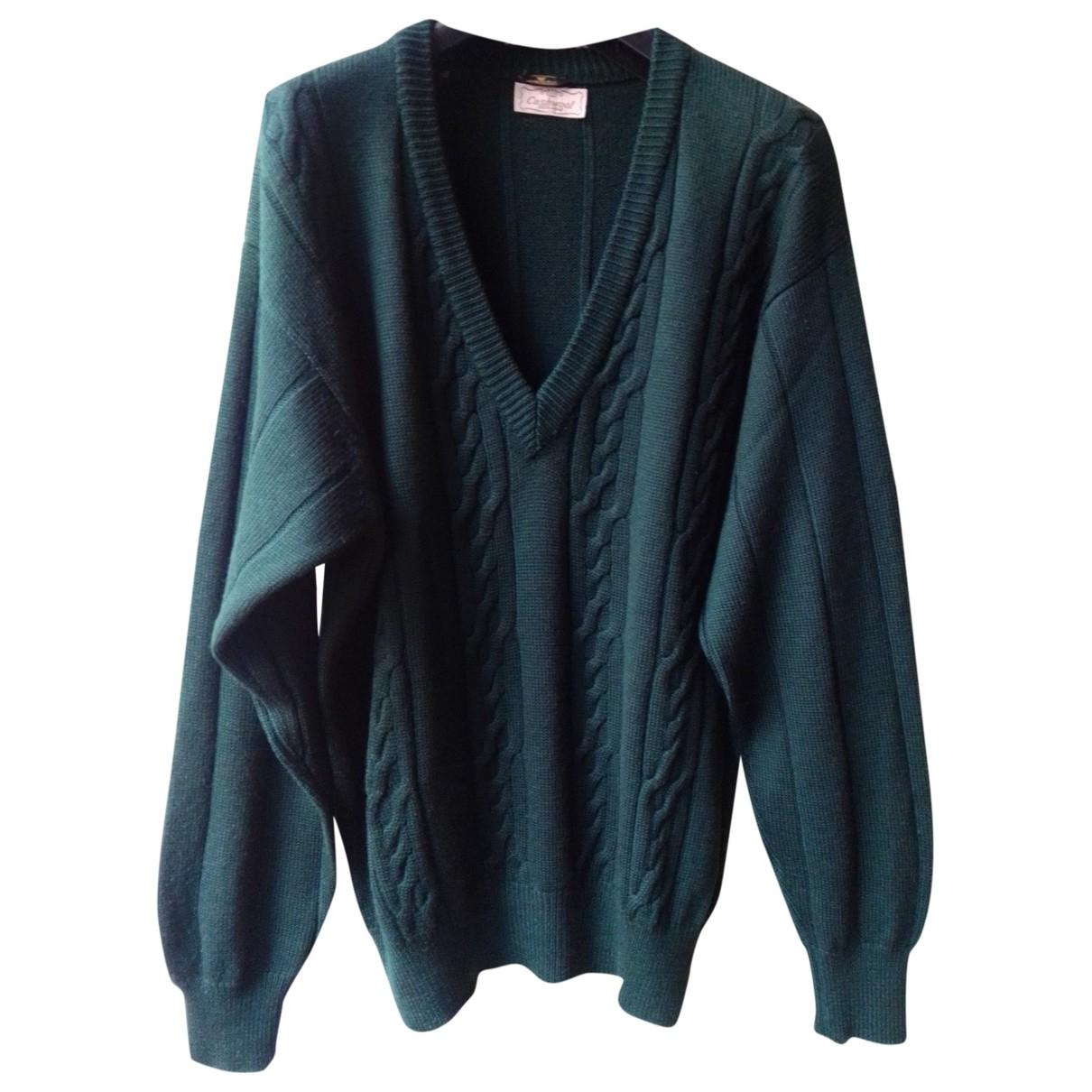 Luca Valentini \N Pullover.Westen.Sweatshirts  in  Gruen Wolle