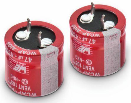 Wurth Elektronik 180μF Electrolytic Capacitor 450V dc, Through Hole - 861021485023 (2)