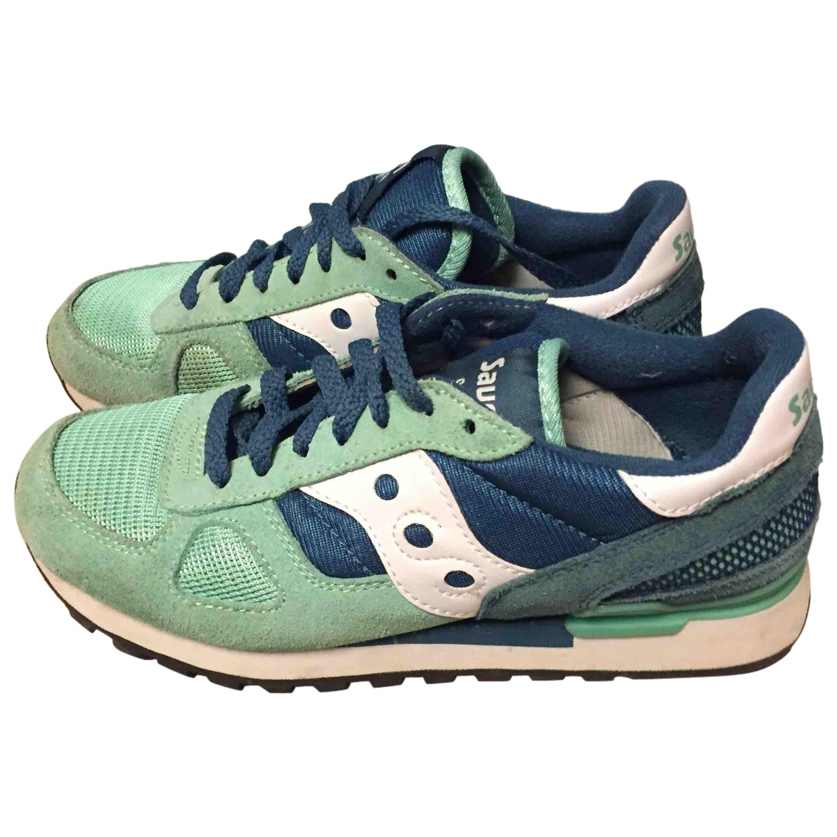 Saucony N Green Suede Trainers for Women 39 EU