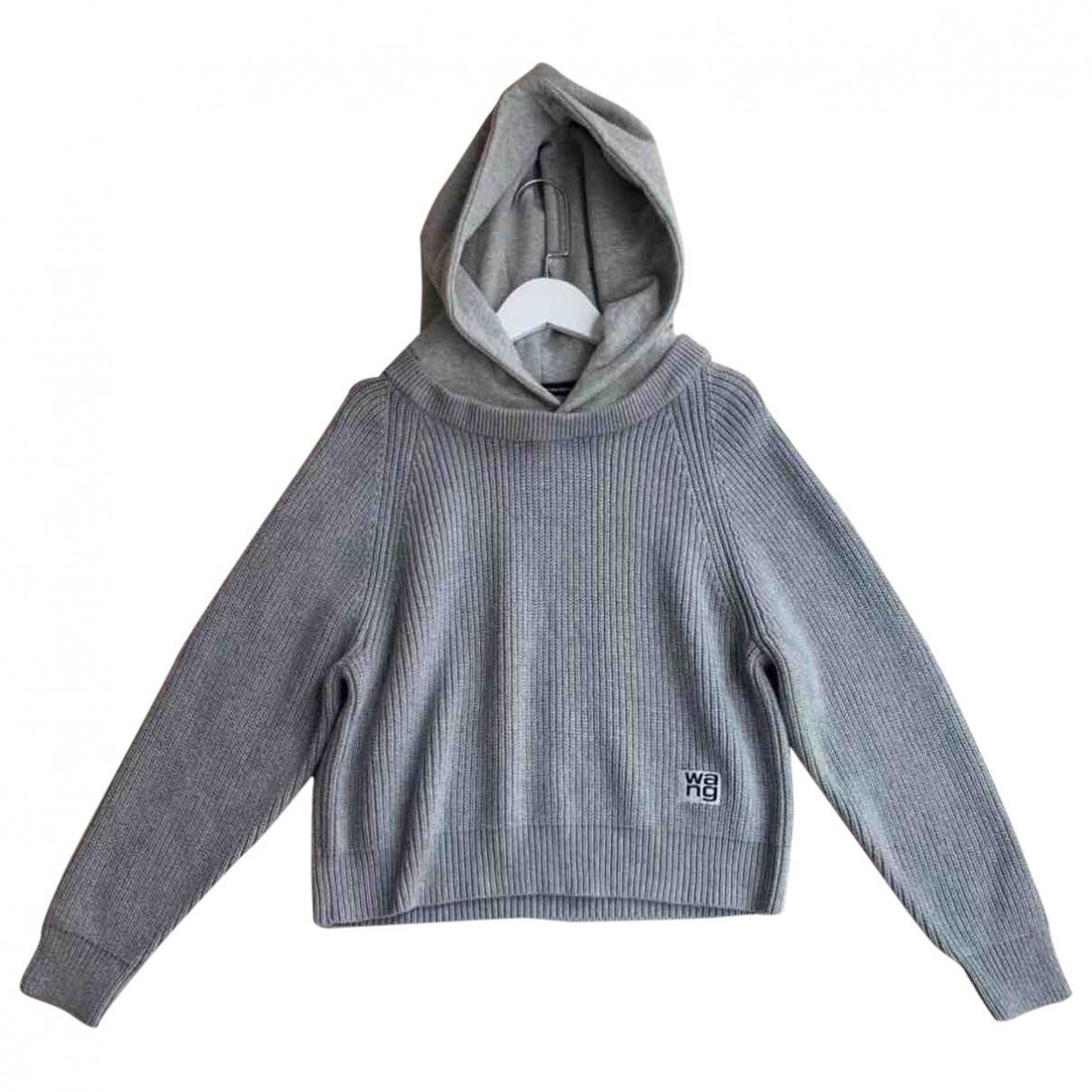 Alexander Wang \N Pullover in  Grau Baumwolle